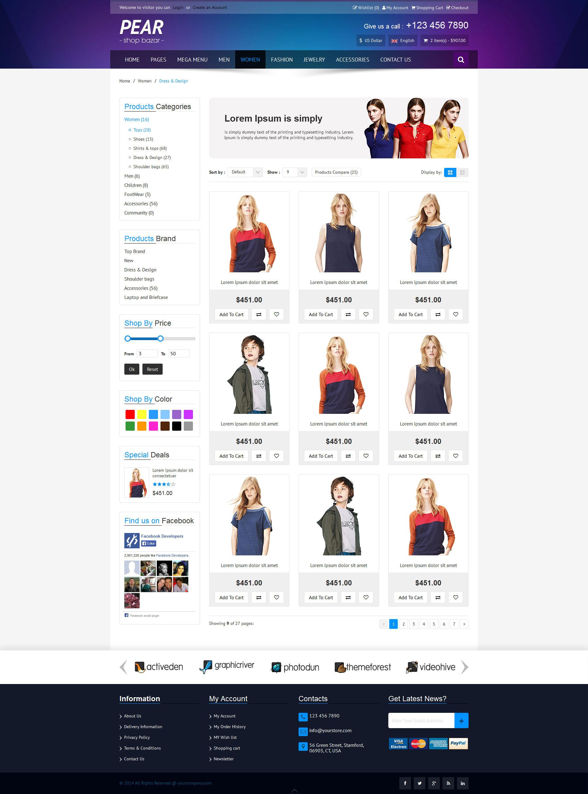 Pear - Responsive E-Commerce HTML Template V1.2