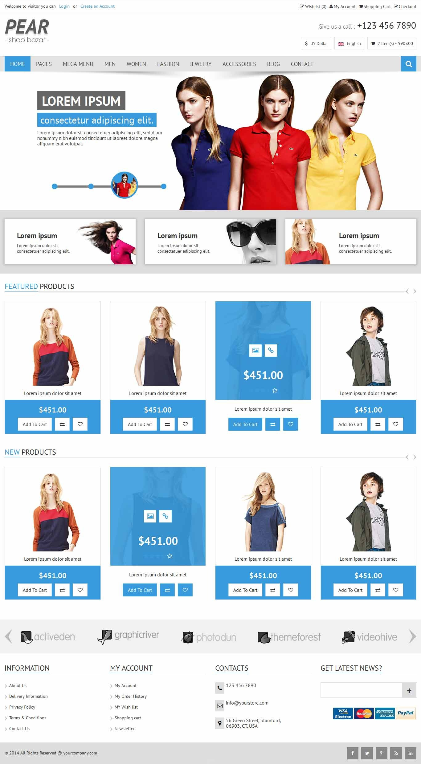 Pear - Responsive E-Commerce HTML Template V1.2