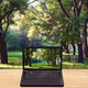 Laptop on a table against a blurred background forest  - PhotoDune Item for Sale