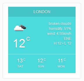 City Weather v1.0 for WordPress