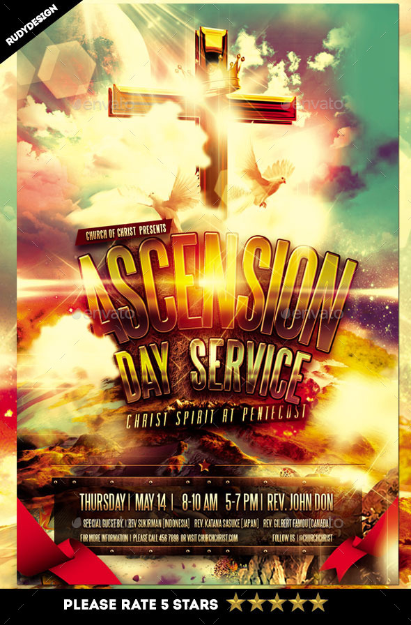 GraphicRiver Ascension Day Service Church Flyer Design 11271472