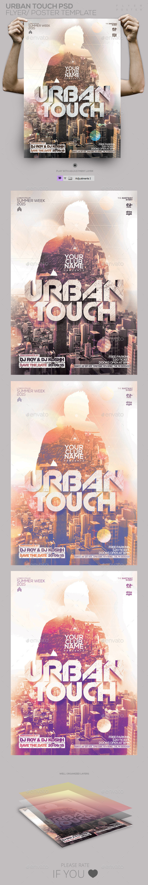 GraphicRiver Urban Touch PSD Flyer Poster Template 11271480