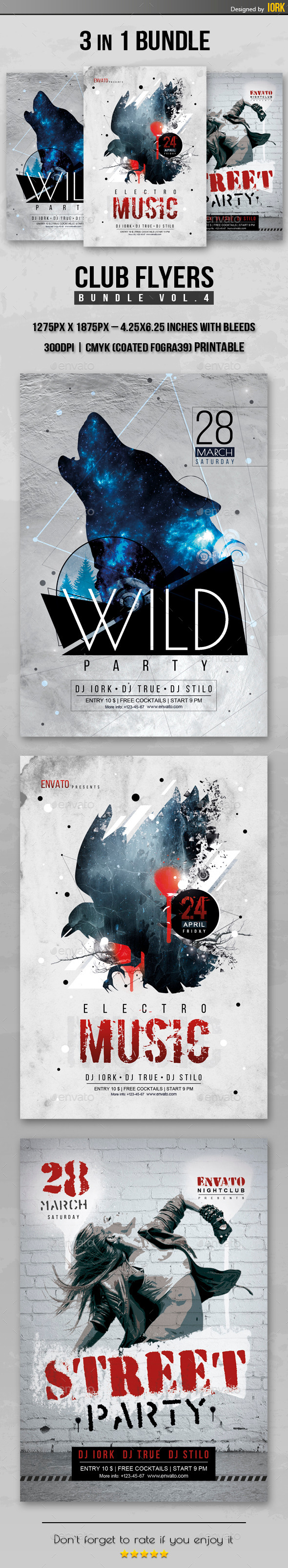 GraphicRiver Club Flyers Bundle Vol.4 11271796