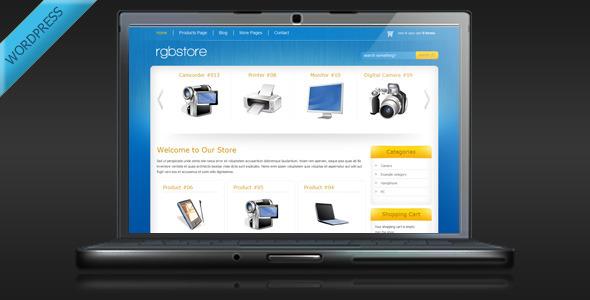 ThemeForest RGBStore Online Store WordPress Theme 139264