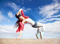 beautiful dancing girl in movement - PhotoDune Item for Sale