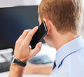 businessman with smartphone in office - PhotoDune Item for Sale