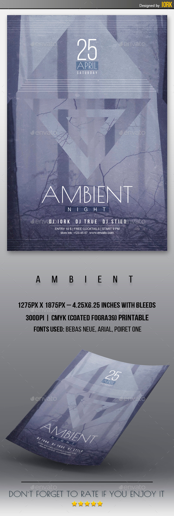GraphicRiver Ambient Night Flyer 11271900