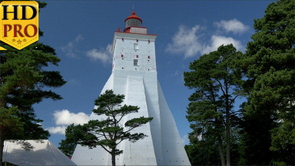 VideoHive A Big White Lighthouse on the Middle of Field 11272216