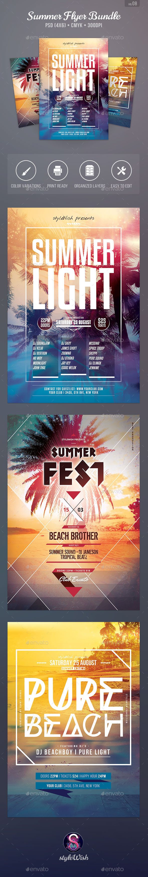 GraphicRiver Summer Flyer Bundle Vol.08 11272638
