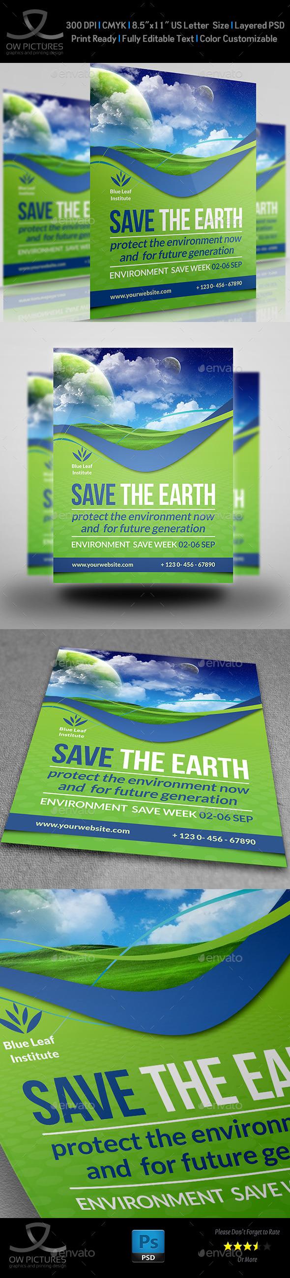 GraphicRiver Environment ECO Flyer Vol.3 11272646