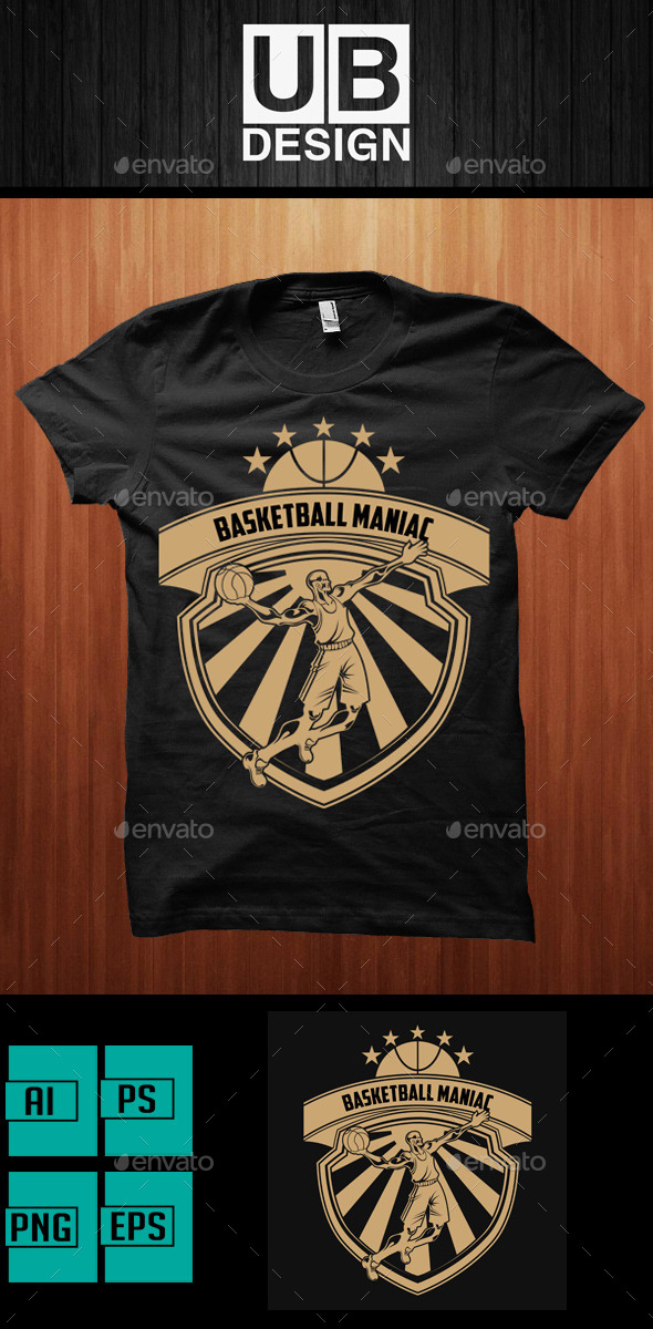 Basketball Maniac T-Shirt