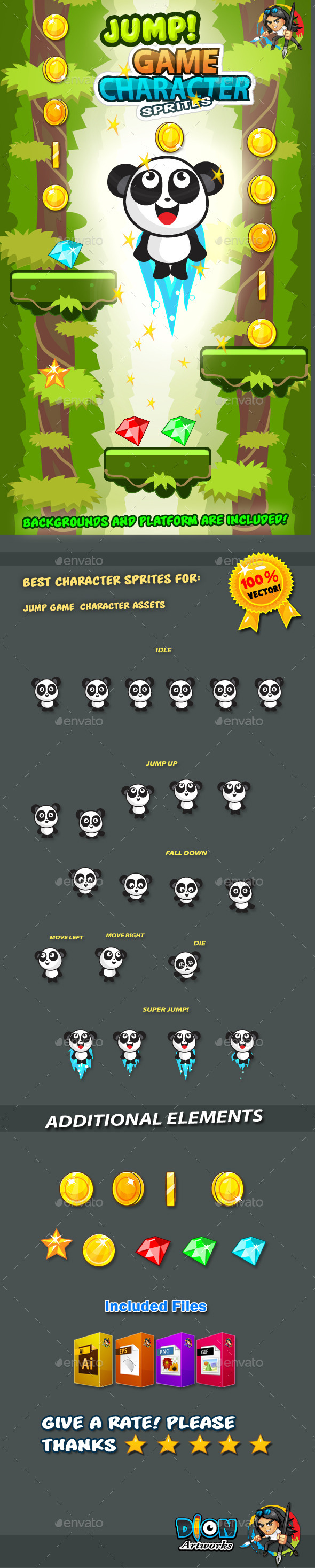 GraphicRiver Panda Jump Game Character Sprites 15 11272696
