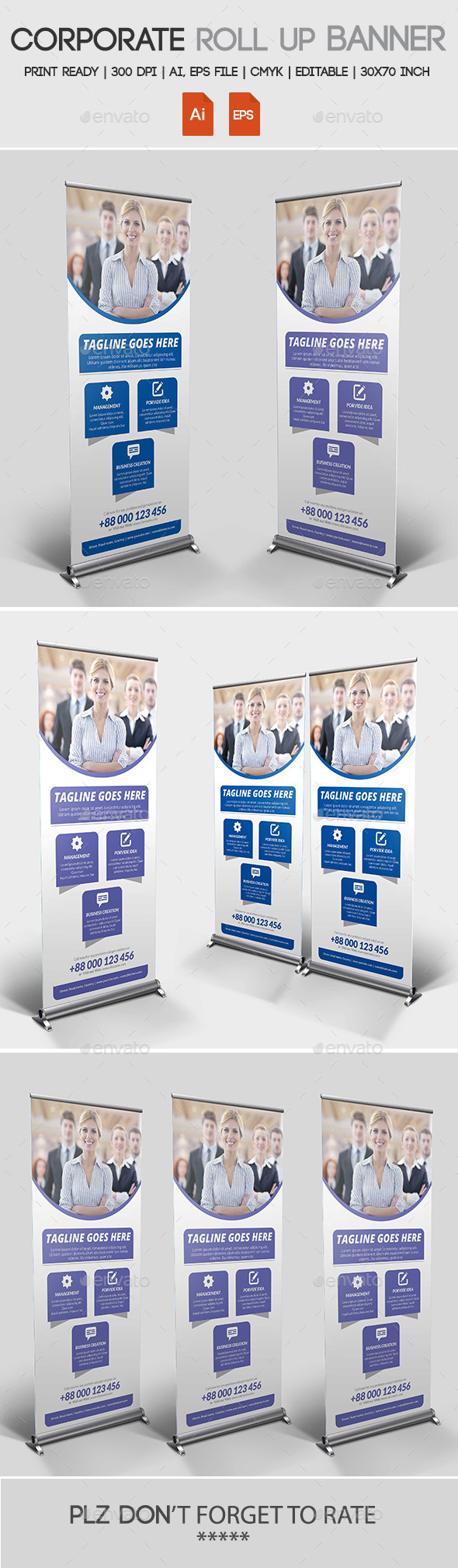 GraphicRiver Corporate Roll up Banner 11272965