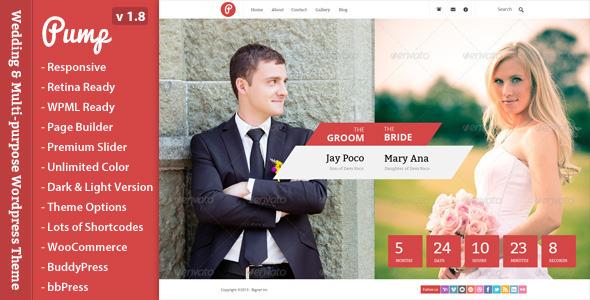 Pump - Responsive Wedding & Multi-purpose Theme - Wedding WordPress