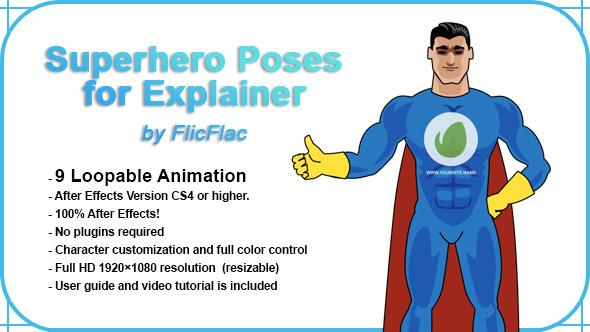 Superhero Poses For Explainer