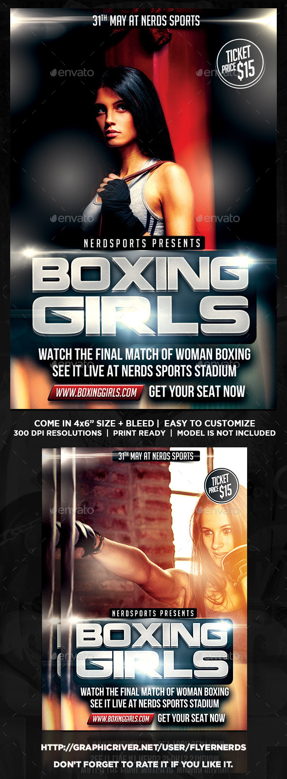GraphicRiver Boxing Girls Sports Flyer 11273181
