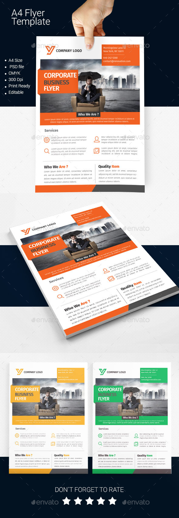 GraphicRiver A4 Business Flyer Template 03 11273197