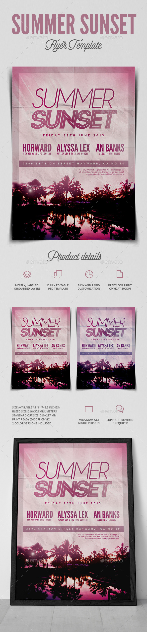 GraphicRiver Summer Sunset Flyer 11273205
