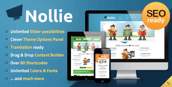 Nollie WordPress Theme - Business Corporate