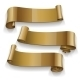 Gold Glossy Ribbons Set - GraphicRiver Item for Sale
