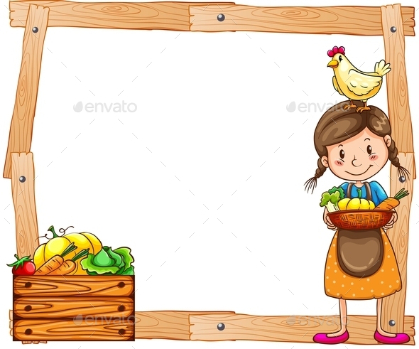 GraphicRiver Wooden Frame with a Young Vendor 11273649