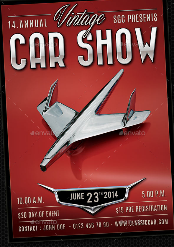 GraphicRiver Classic Car Show Flyer 11273769