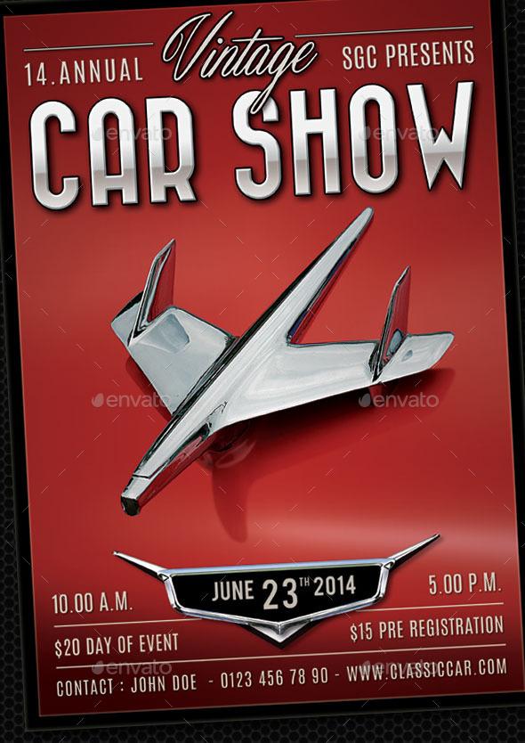 GraphicRiver Classic Car Show Flyer 11273769