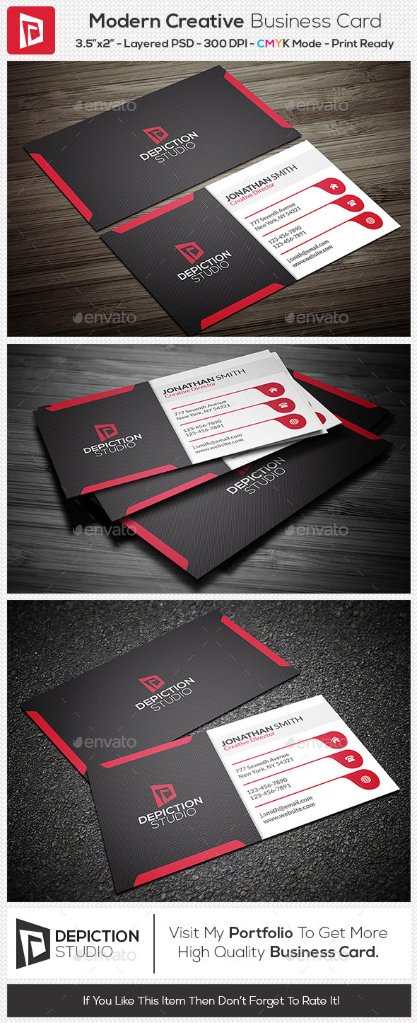 GraphicRiver Modern Creative Business Card 11273775