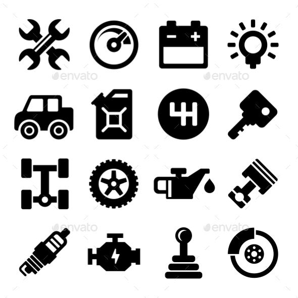 GraphicRiver Auto Repair Service Icons 11273776