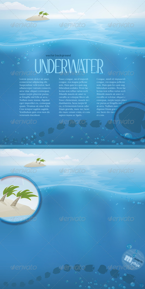 GraphicRiver Vector Summer Landscape 1125259