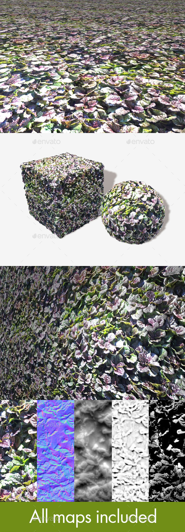 Shrub Plant Seamless Texture - 3DOcean Item for Sale