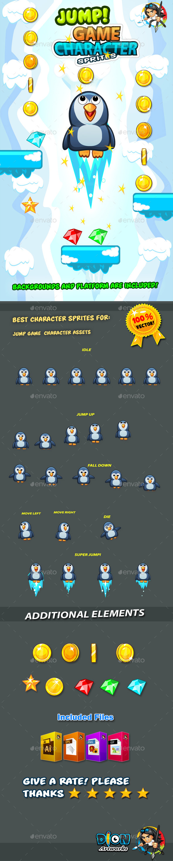 GraphicRiver Penguin Jump Game Character Sprites 16 11273961