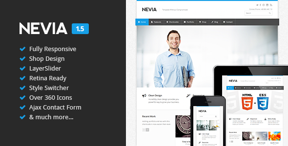 Nevia - Responsive HTML5 Template - Business Corporate