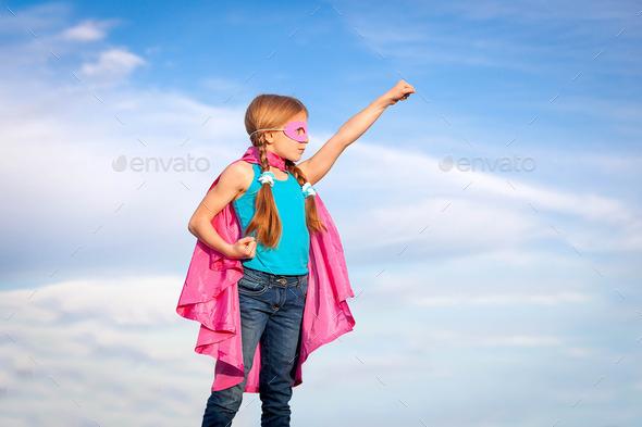 super hero girl power concept
