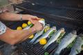 preparing fish meal outdoors - PhotoDune Item for Sale