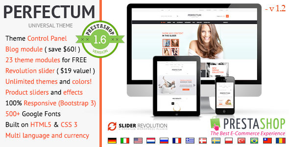 Download Perfectum – Responsive Prestashop theme nulled download