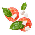 red tomatoes, mozzarella and basil isoalted - PhotoDune Item for Sale