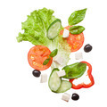 salad isolated in white, top view - PhotoDune Item for Sale