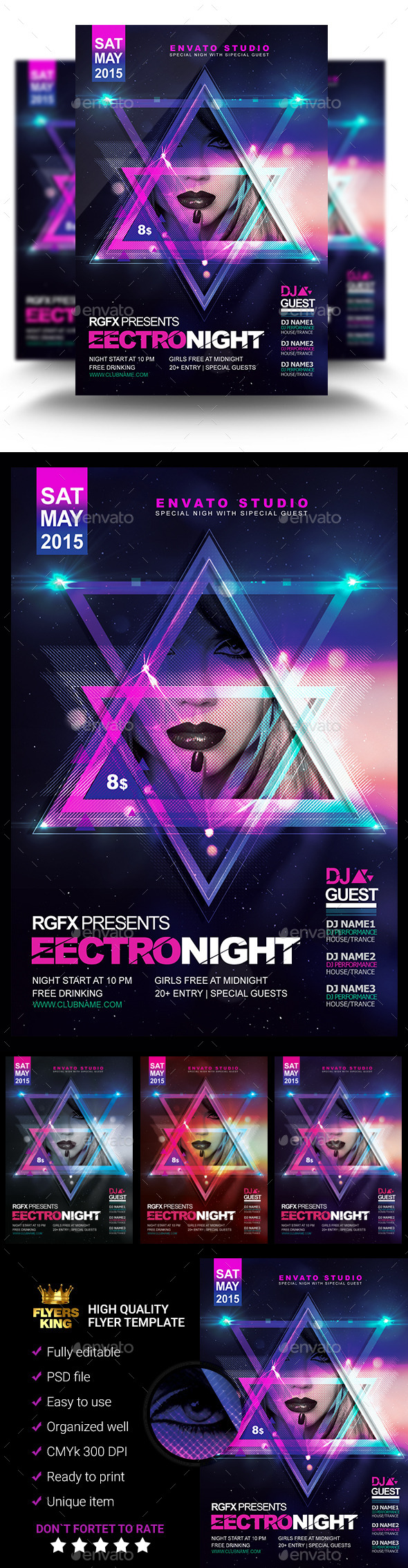 GraphicRiver Electro Night Flyer 11274251