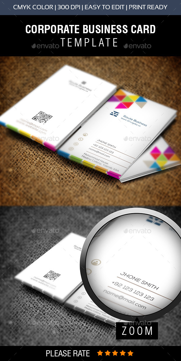 GraphicRiver Colourful Business Card 2 11274252