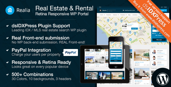 Realia - Responsive Real Estate WordPress Theme - Banner