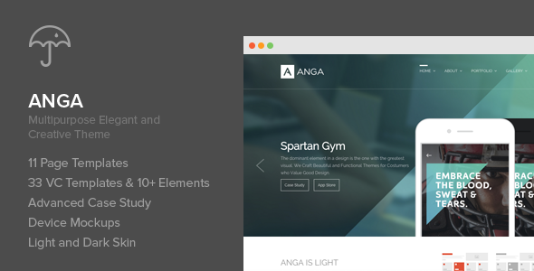 ThemeForest Anga Multipurpose Elegant and Creative Theme 11204461