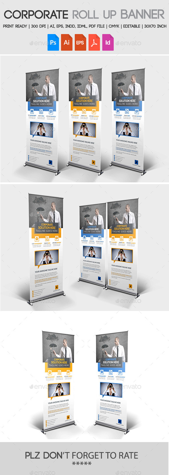 GraphicRiver Corporate Roll up Banner 11274463