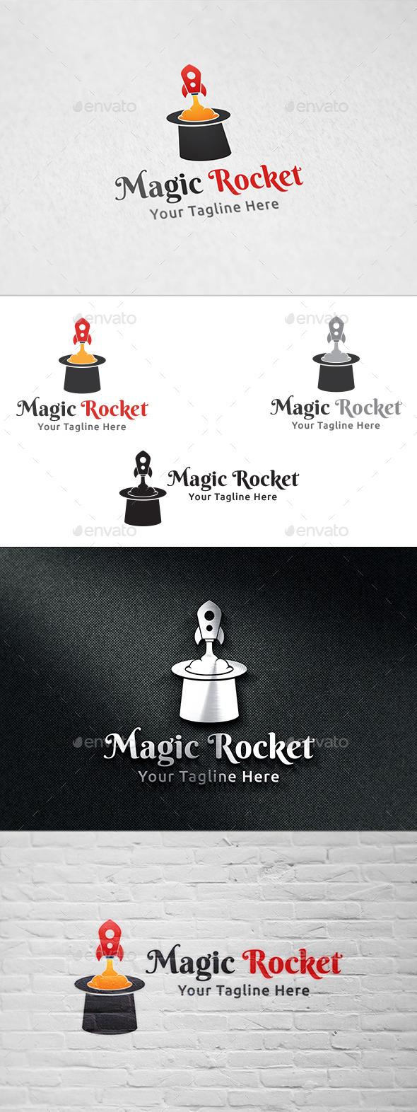 GraphicRiver Magic Rocket Logo Template 11274465
