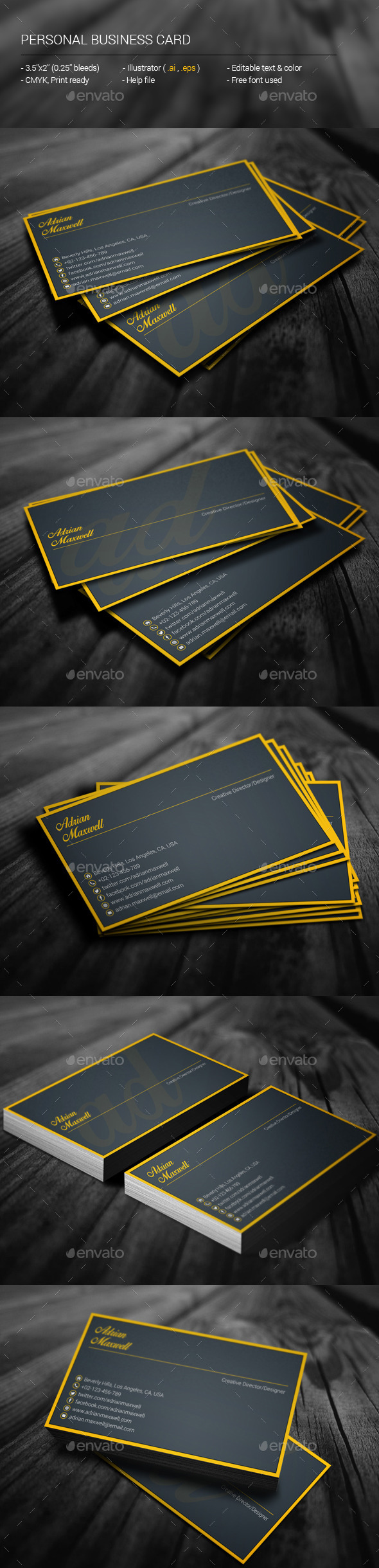 GraphicRiver Personal Business Card 11274559
