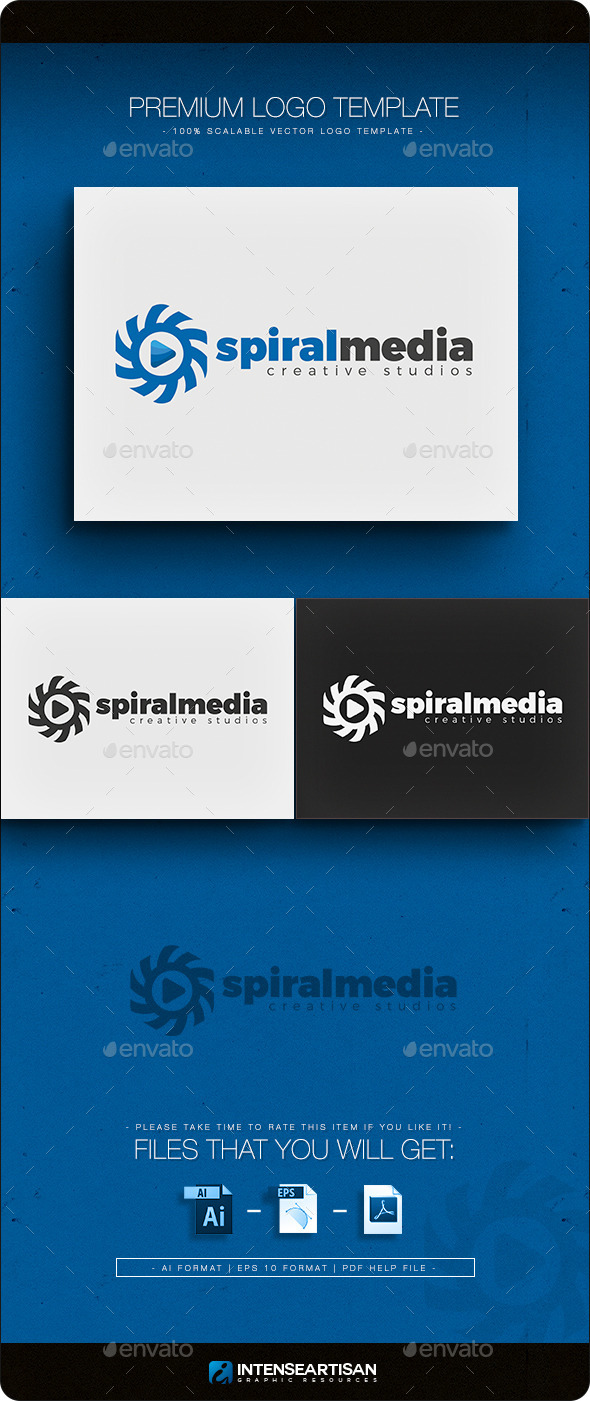 GraphicRiver Spiral Media Logo 11274713