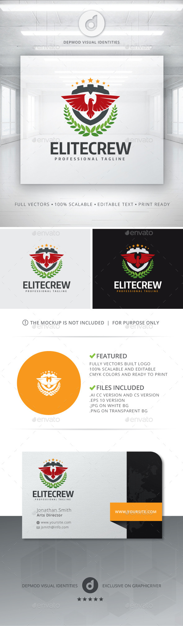 GraphicRiver Elite Crew Logo 11242766