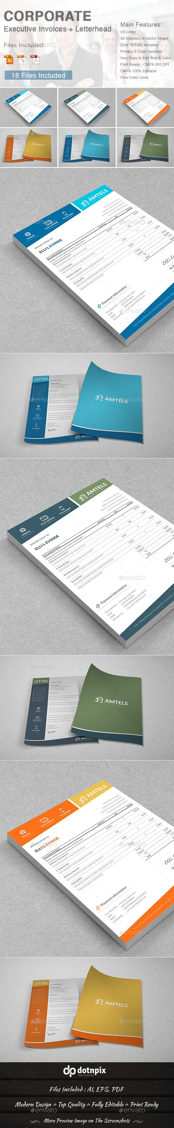 GraphicRiver Corporate Executive Invoices & Letterhead 11274965