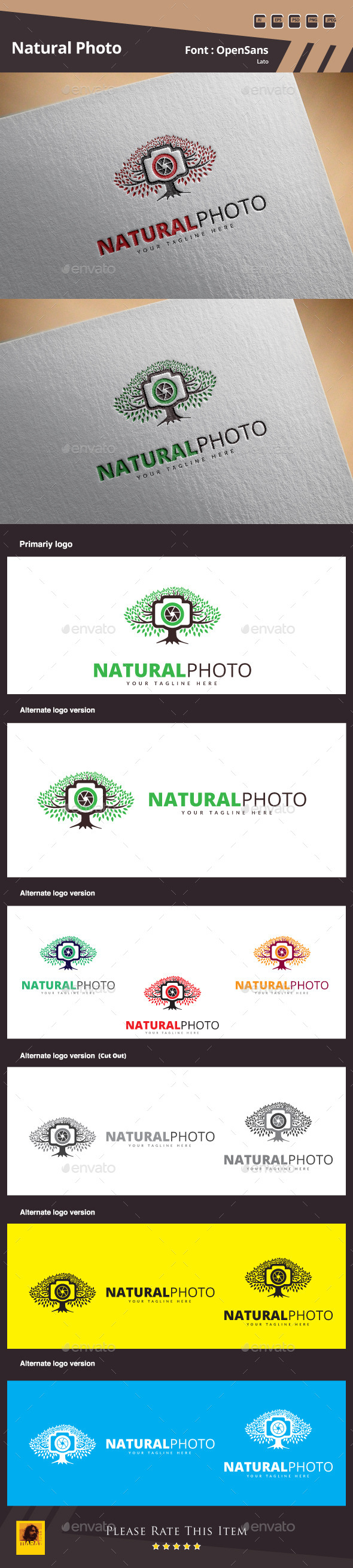 GraphicRiver Natural Photo Logo Template 11275027