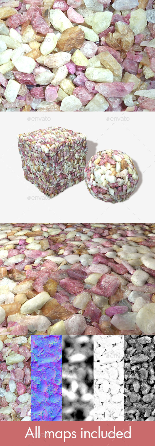 Coloured Precious Stones Seamless Texture